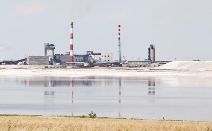 Производство природного сульфата натрия на озере Кучук